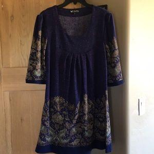 Papillon short knit dress